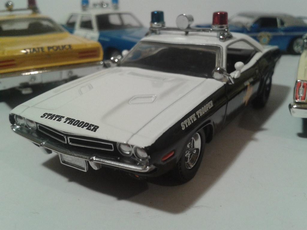 1971 Dodge Challenger Texas Highway Patrol Car By Matchbox