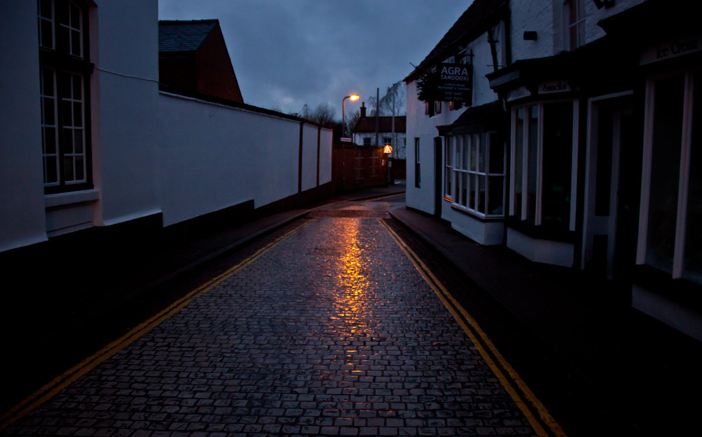 Hd wallpaper england - Cobblestone Street At Night In Horncastle Lincolnshire