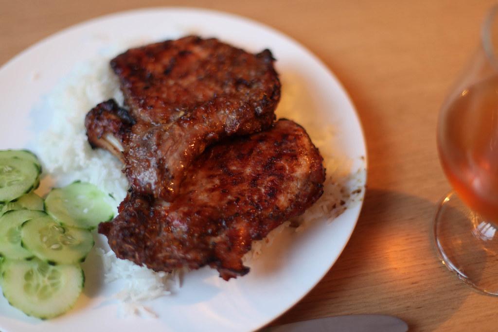 Thit Heo Nuong Xa | BBQed lemongrass pork chops. recipe: www ...
