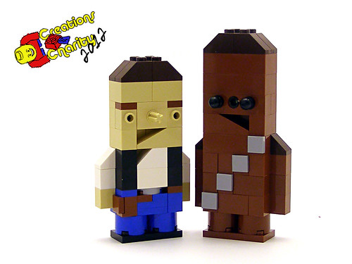 Han and Chewie Charity Characters | by Legohaulic