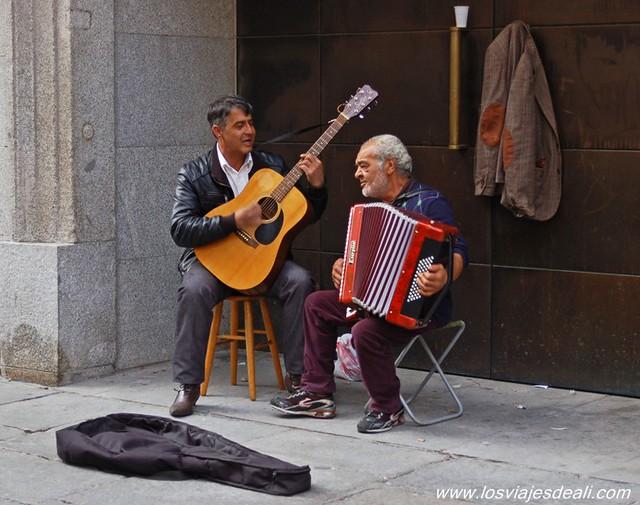 Músicos en el viejo Madrid