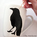 Clean up raven stencil with toothpick