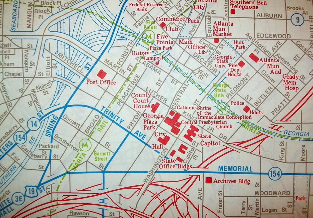 Downtown Atlanta Map Downtown Atlanta GA 1983 | Map by Dolph Map Co. | davecito | Flickr Downtown Atlanta Map
