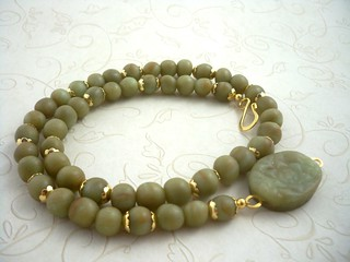 Faux antique jade necklace | by higirlsdesigns