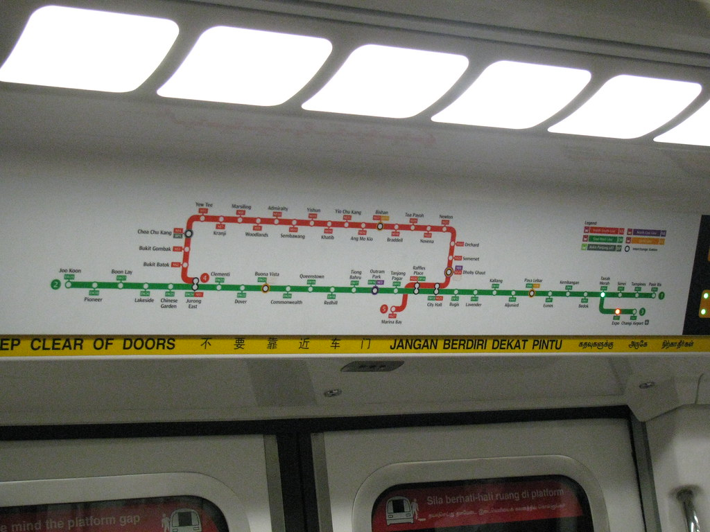 Illuminated Maps on Singapore Trains | I can't believe they ... on