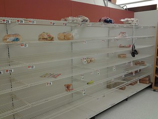 Bread shelves Giant NVA eve of Hurricane Sandy | by A Siegel