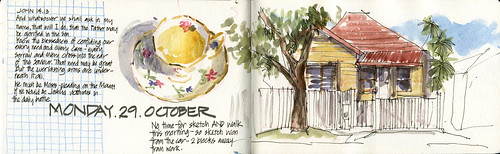 121029 Morning Sketching | by Liz Steel Art