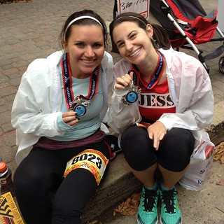 Jess and Megan post race | by jessmilcetich