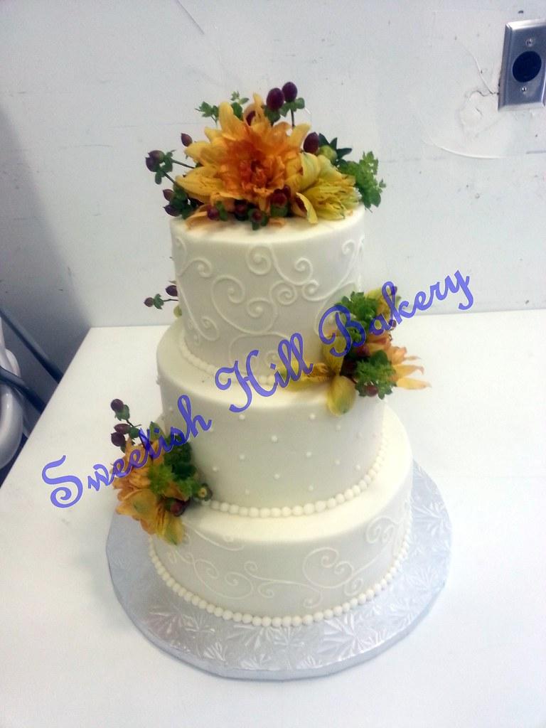 Classic Swirl Wedding Cake