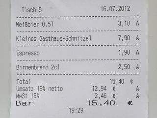 receipt rechnung bill quittung kassenzettel germany deutsc flickr. Black Bedroom Furniture Sets. Home Design Ideas