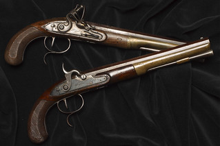 Duelling pistols, as used by Eugene Onegin and Lensky © The New York Historical Society | by Royal Opera House Covent Garden