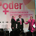 "US Secretary of State Hillary Rodham Clinton, Peruvian President Ollanta Humala Tasso and UN Women Executive Director Michelle Bachelet emphasized gender equality at the event ""Power: Women as Drivers of Growth and Social Inclusion,"" in Lima, Peru"