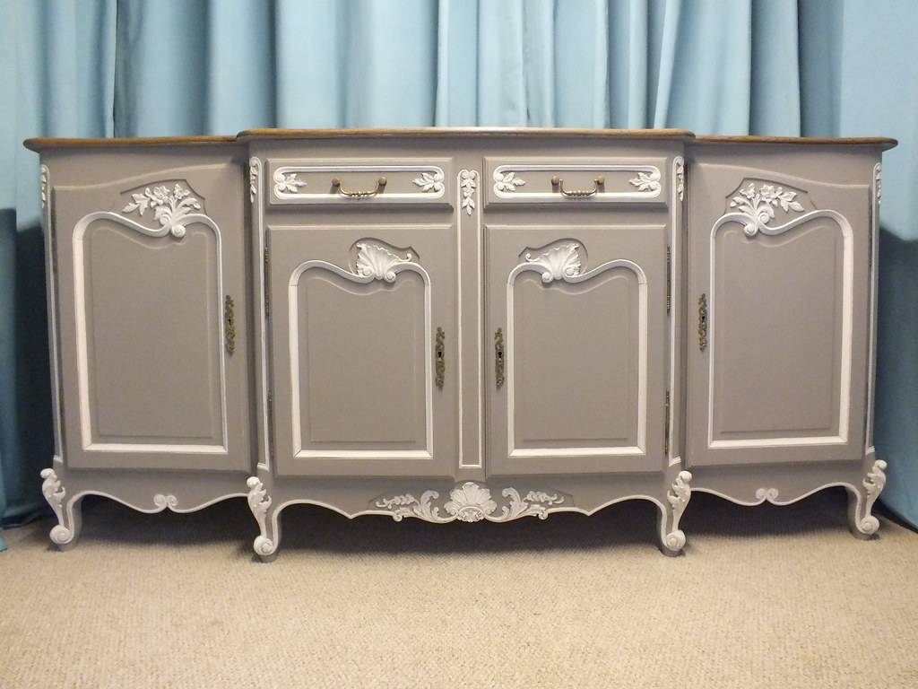 vintage painted french sideboard d p french interiors ww flickr. Black Bedroom Furniture Sets. Home Design Ideas