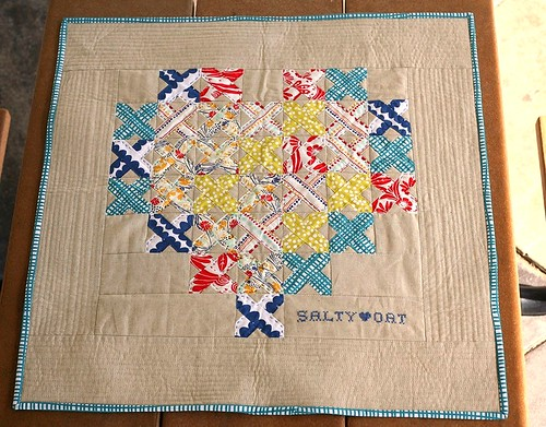 Mini Quilt for my Swap Partner Salty Oat | by PileOFabric