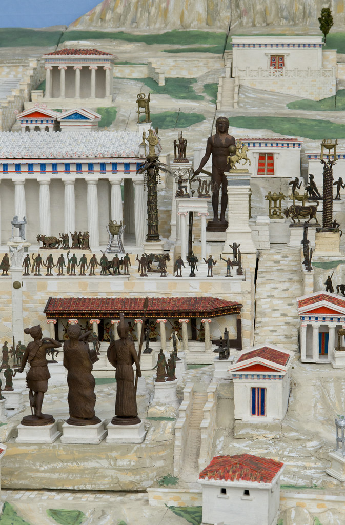 The Sanctuary Of Delphi Model Of The Sanctuary Of Delphi