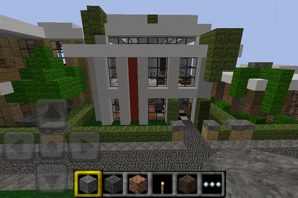minecraft pe simple modern house design