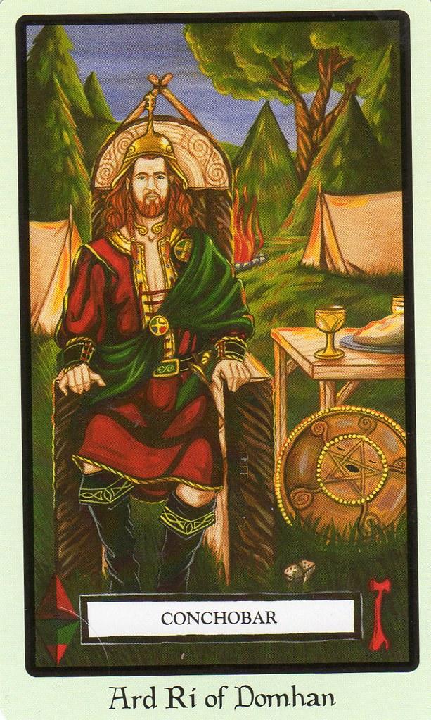 Faery Wicca Tarot- Ard Ri Of Domhan, Conchobar (Knight Of