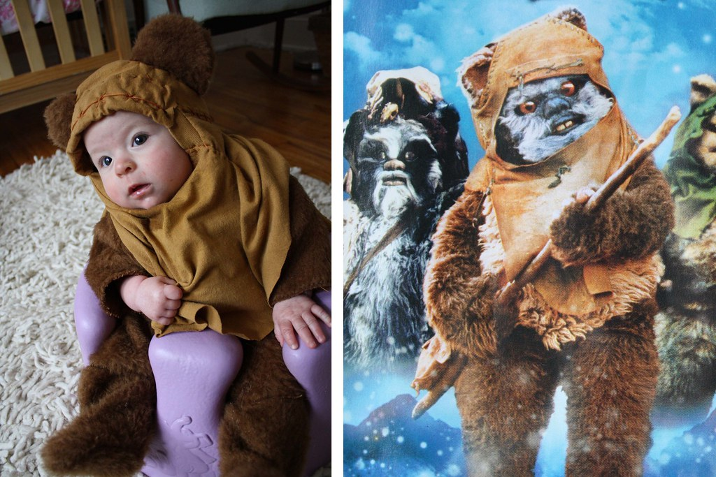diy ewok halloween costume for baby flickr. Black Bedroom Furniture Sets. Home Design Ideas