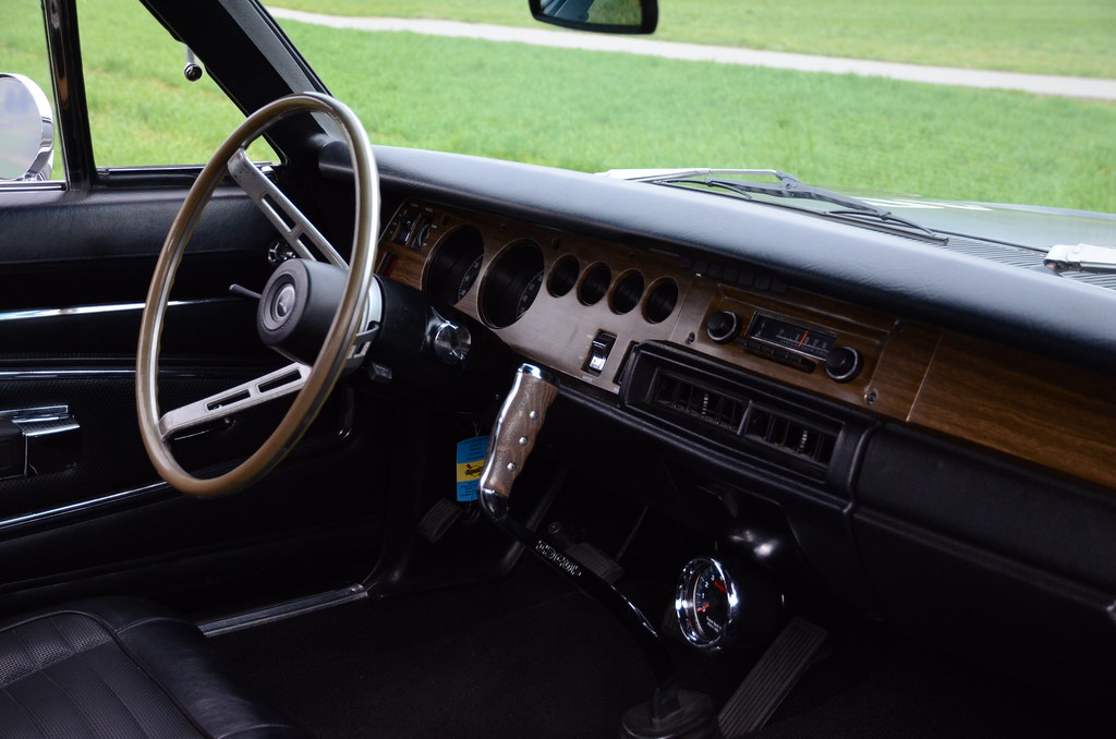 1970 Dodge Charger R T 440 4 Speed Interior Triple Black