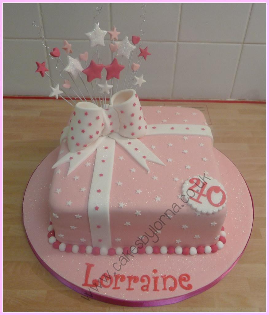 Dusty Birthday Cake