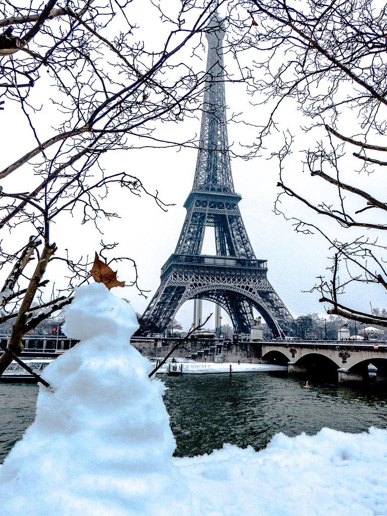 Il Neige Sur Paris 20 Janvier 2013 Il Neige Sur La