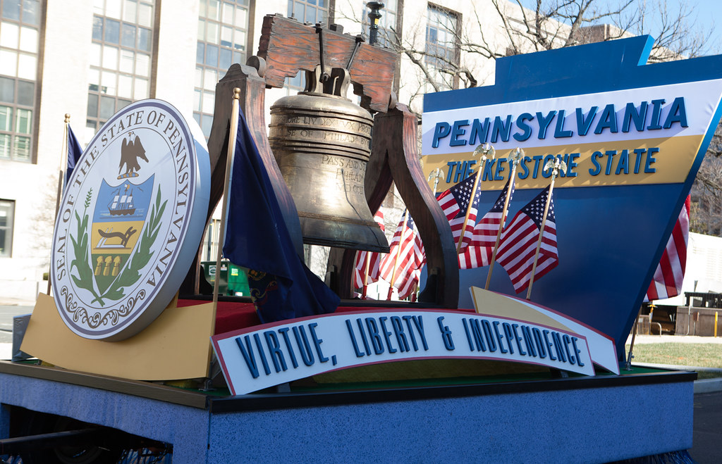 The Pennsylvania State Float Arrival In Washington DCJa