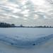Winterzon Boven de Uithof in Den Haag