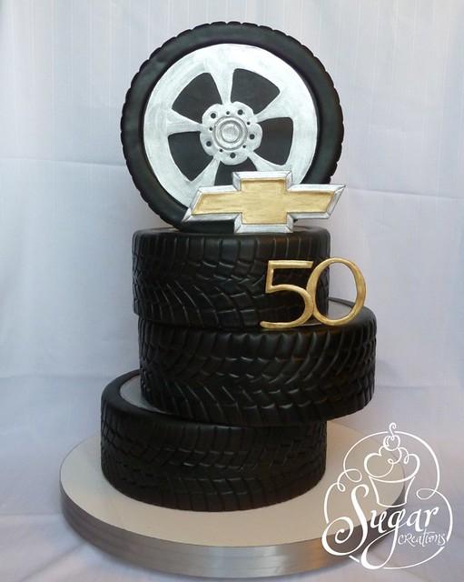Car Tire Chocolate Cake
