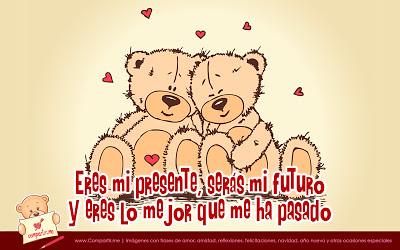 Linda Tarjeta De Amor Con Ositos Enamorados Y Frase De Amo Flickr