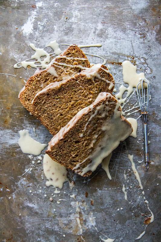 Spiced Zucchini Bread with Honey Glaze