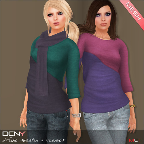 DCNY D-Line Sweater & Scarves | by Anessa Stine