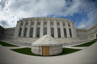 Kazakh Yurt on Display at UN's Geneva Headquarters | by United Nations Photo