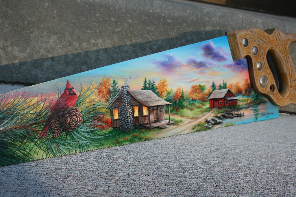 Hand Painted Wood Saws