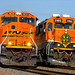 BNSF Train Meet at Merriam, KS