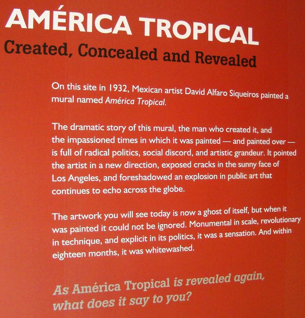 Glamour of la america tropical by david alfaro siqueir for David alfaro siqueiros mural tropical america