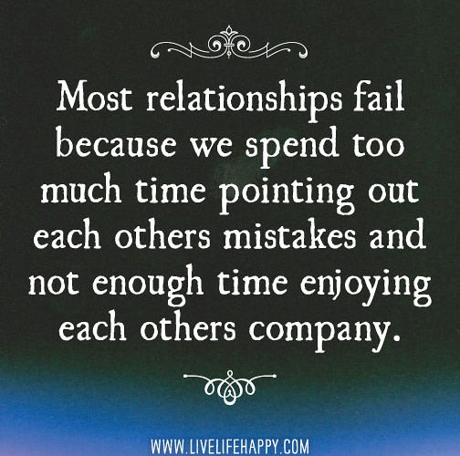 Quotes About Relationships And Time: Most Relationships Fail Because We Spend Too Much Time Poi