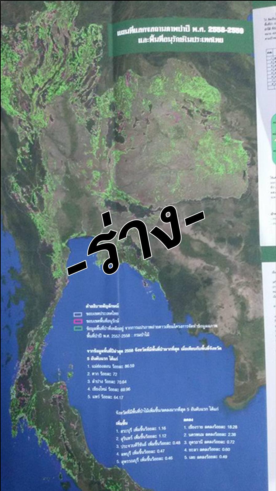 แจ้งแก้ไขข้อผิดพลาด แผ่นพับสถานการณ์ป่าไม้ไทย พุทธศักราช 2559