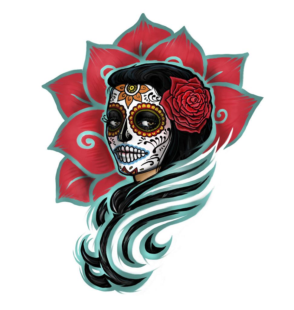 Dia De Los Muertos Tattoo Design Contest Winner Cateastrophe