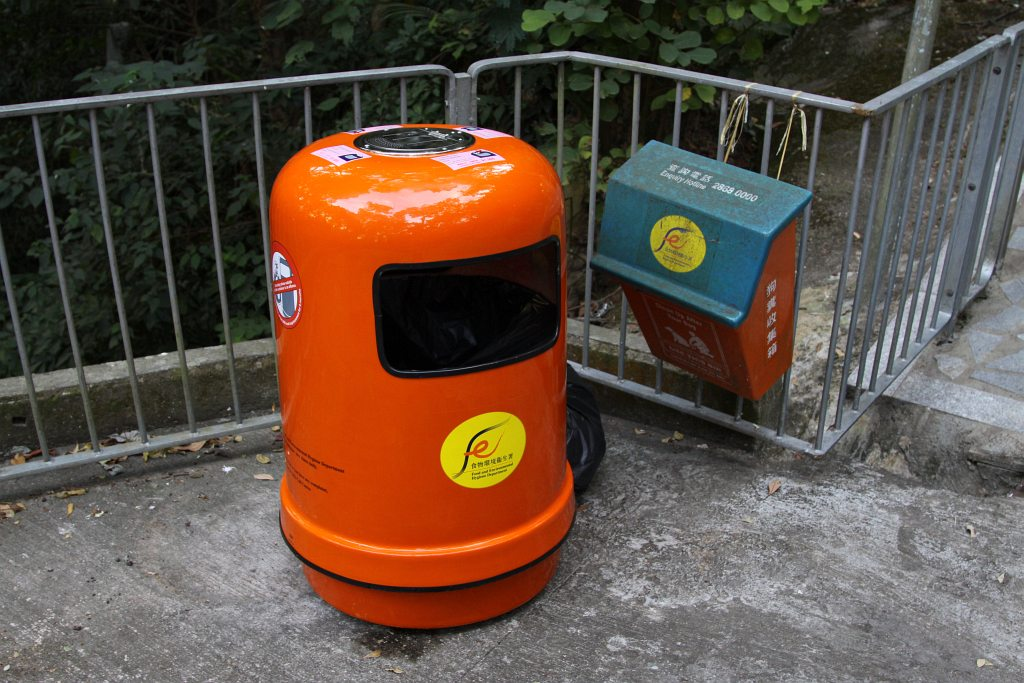 Hong Kong S Distinctive Round Rubbish Bins Walking From
