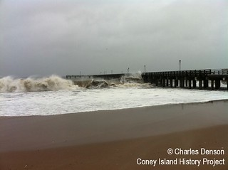 Sandy at Steeplechase Pier, Photo by Charles Denson | by Coney Island History Project