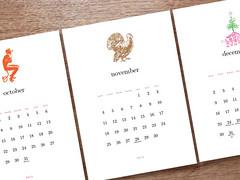 2013 calendar printable simple woodcuts october novem flickr