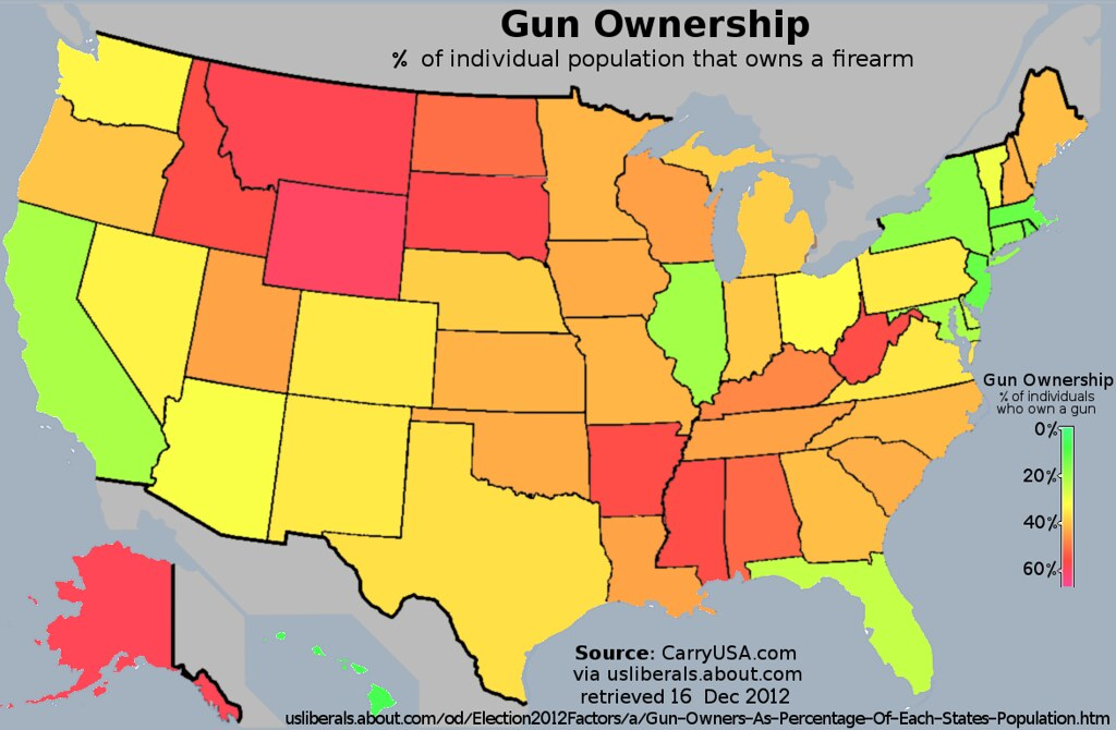 us map of gun ownership rates by psudo on politics