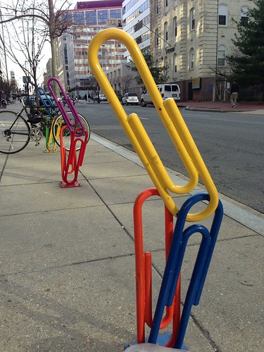 Paper clip bike racks at 21st and L Streets NW, Washington, DC. Photo: jay mallin | by jaymallinphotos