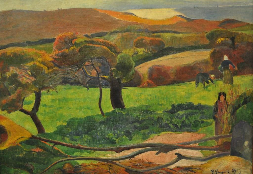 """""""Paysage de Bretagne"""" 1889, Paul Gauguin (1848-1903), Nati ..."""
