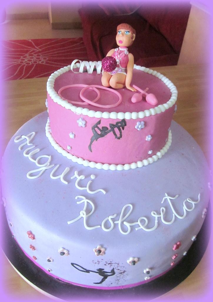 Torta ginnastica ritmica flora flickr for Decorazione torte ginnastica ritmica