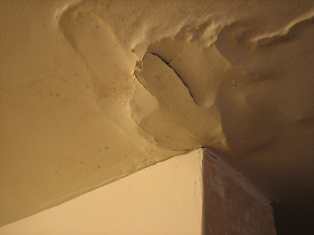 Bathroom Ceiling Water Damage From Sweating AC Duct Flickr - Bathroom ceiling water damage