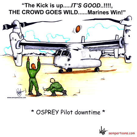 Osprey Pilot Downtime | (Cartoon created by Gunny Wolf ...