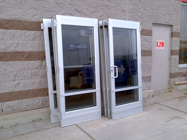 Automatic and manual doors removed at preston crossing