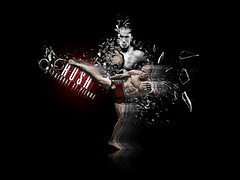 Gsp George St Pierre Rush Kick Ufc Ultimate Fighting Championship Mma Mixed Martial Arts Wallpaper Background