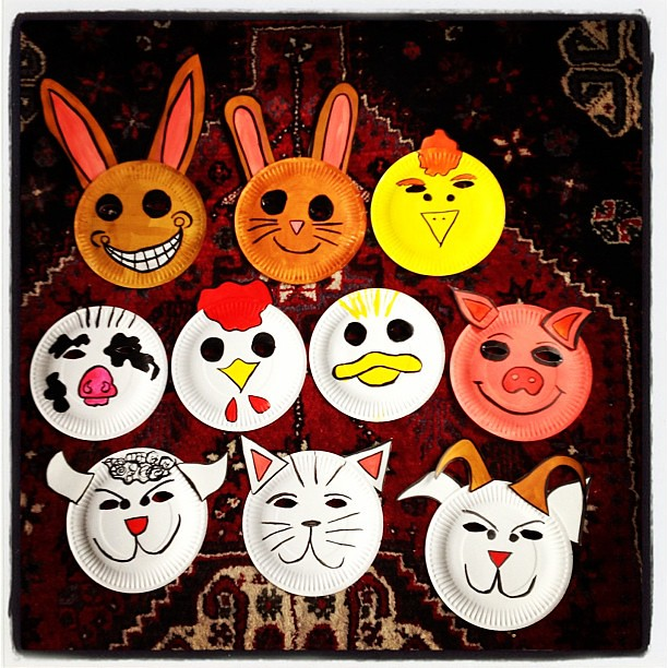 farm #animal #kids #face #mask #paper #plate #craft #swee… | Flickr
